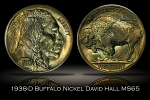 1938-D Buffalo Nickel David Hall's Numismatic Investment Group MS65