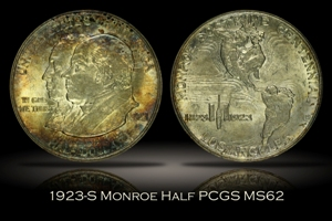1923-S Monroe Doctrine Half PCGS MS62