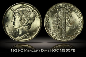 1939-D Mercury Dime NGC MS65FB Generation 2.0 Holder