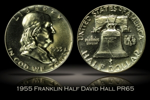 1955 Proof Franklin Half David Hall's Numismatic Investment Group PR65