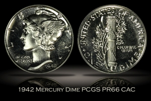 1942 Proof Mercury Dime PCGS PR66 CAC