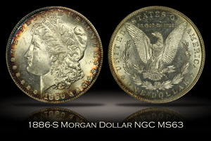 1886-S Morgan Dollar NGC MS63