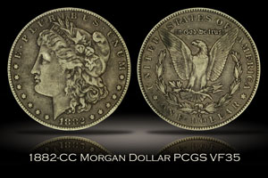 1882-CC Morgan Dollar PCGS VF35