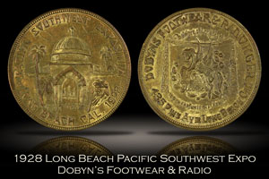 1928 Long Beach Pacific Southwest Expo Dobyn's Token