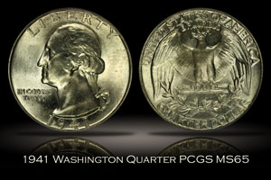 1941 Washington Quarter PCGS MS65