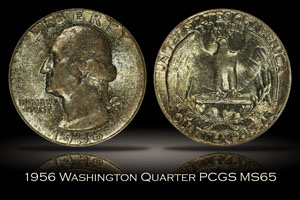 1956 Washington Quarter PCGS MS65