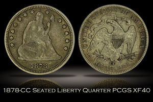 1878-CC Seated Liberty Quarter PCGS XF40