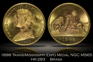 1898 Trans-Mississippi Expo Medal HK-283 NGC MS65