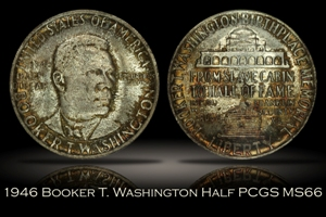 1946 Booker T. Washington Half PCGS MS66