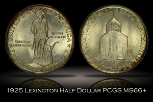 1925 Lexington Half PCGS MS66+