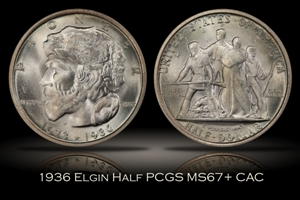 1936 Elgin Half PCGS MS67+ CAC