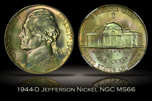 1944-D Jefferson War Nickel NGC MS66