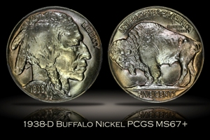 1938-D Buffalo Nickel PCGS MS67+