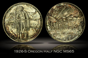 1926-S Oregon Trail Memorial Half NGC MS65