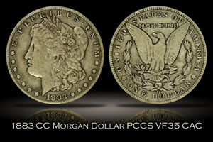 1883-CC Morgan Dollar PCGS VF35 CAC