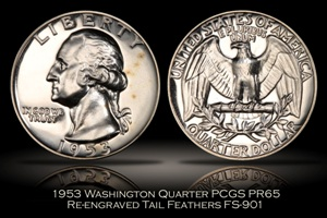 1953 Washington Quarter FS-901 PCGS PR65