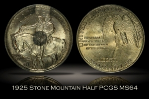 1925 Stone Mountain Half PCGS MS64