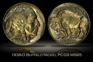1938-D Buffalo Nickel PCGS MS65