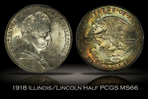 1918 Illinois/Lincoln Half PCGS MS66