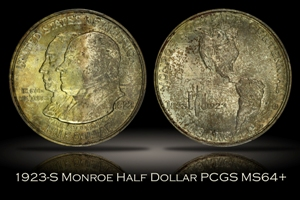 1923-S Monroe Doctrine Half PCGS MS64+