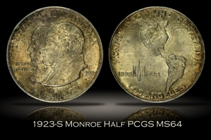 1923-S Monroe Doctrine Half PCGS MS64