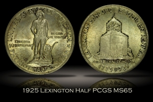 1925 Lexington Half PCGS MS65