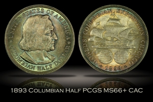 1893 Columbian Half PCGS MS66+
