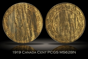 1919 Canada Cent PCGS MS62BN