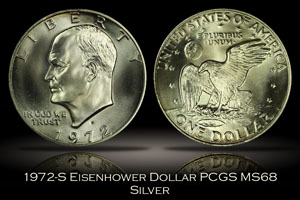 1972-S Eisenhower Silver Dollar PCGS MS68