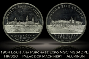 1904 Louisiana Purchase Expo Palace of Machinery HK-320 NGC MS64DPL