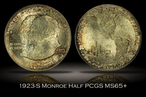 1923-S Monroe Doctrine Half PCGS MS65+