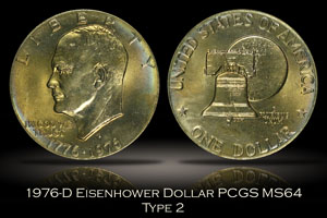 1976-D Eisenhower Dollar PCGS MS64
