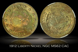 1912 Liberty Nickel NGC MS62 CAC