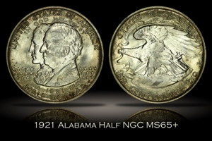 1921 Alabama Half NGC MS65+