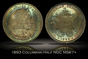 1893 Columbian Half NGC MS67+
