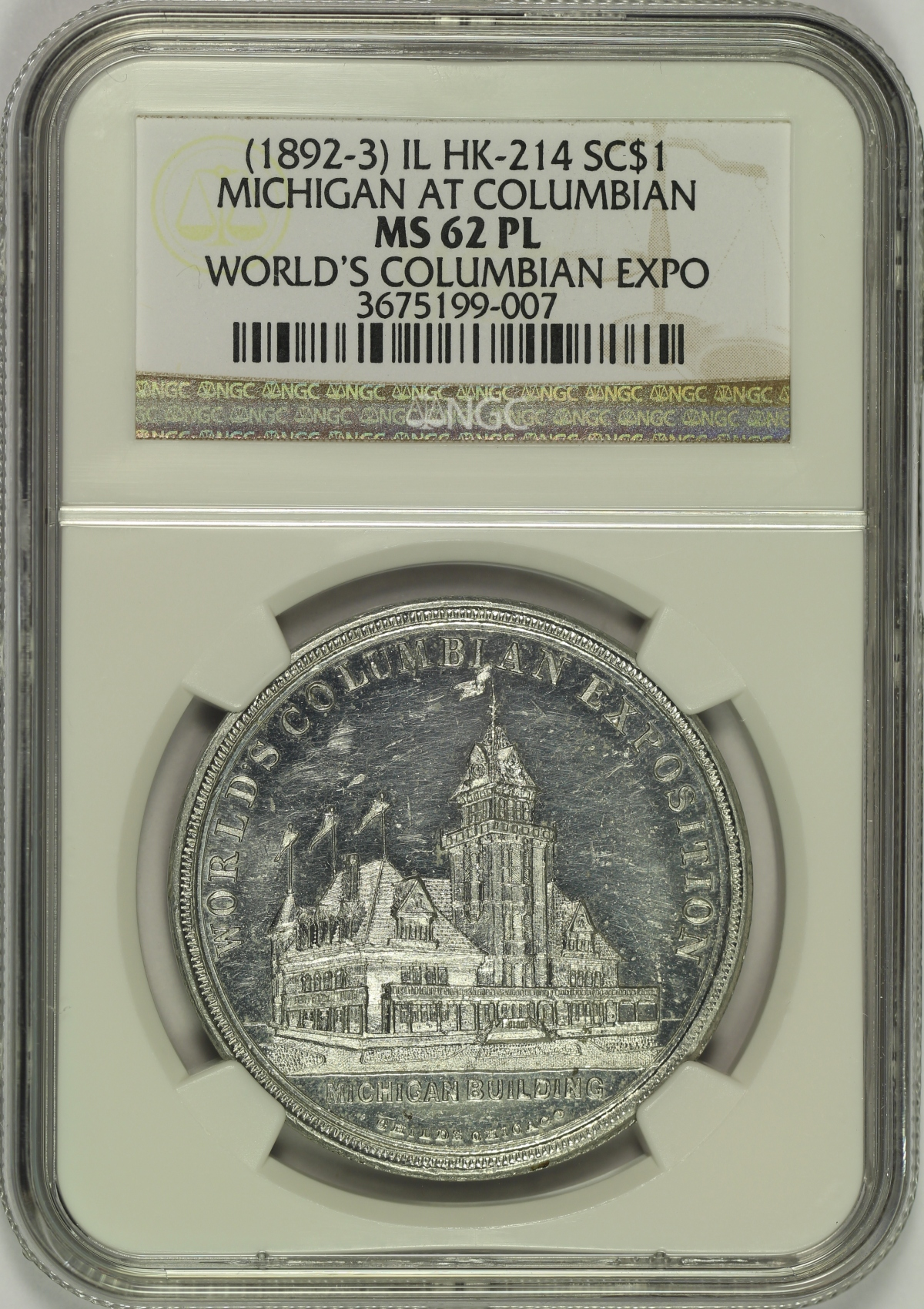 Michael Kittle Rare Coins - 1893 Columbian Expo Michigan ...