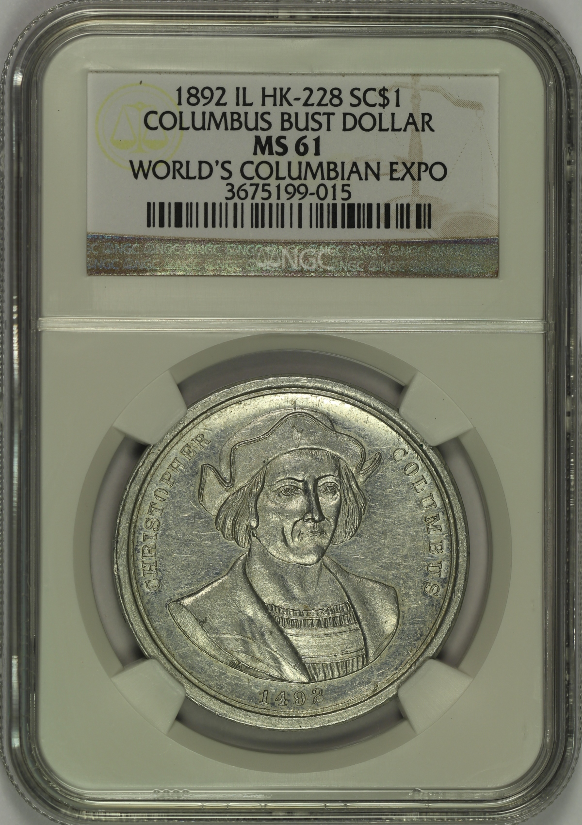 Michael Kittle Rare Coins - 1892 Columbian Expo Bust ...