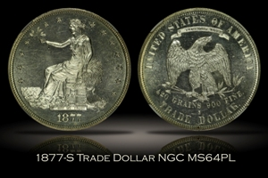 1877-S Trade Dollar NGC MS64PL