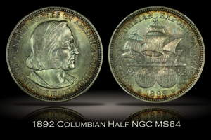 1892 Columbian Half NGC MS64