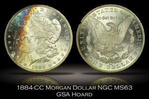 1884-CC Morgan Dollar NGC MS63 GSA Hoard