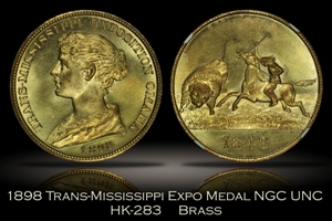 1898 Trans-Mississippi Expo Medal HK-283 NGC Unc