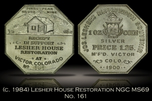 (c. 1984) Lesher House Restoration Medal No. 161 NGC MS69