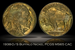 1938-D/S Buffalo Nickel PCGS MS65 OGH CAC