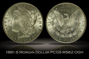 1881-S Morgan Dollar PCGS MS62