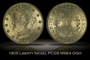 1905 Liberty Nickel PCGS MS64 OGH