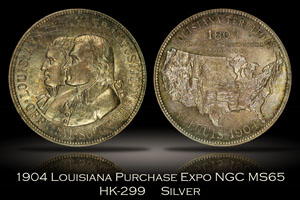 1904 Louisiana Purchase Expo Official Medal HK-299 NGC MS65
