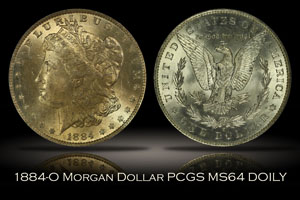1884-O Morgan Dollar PCGS MS64 DOILY