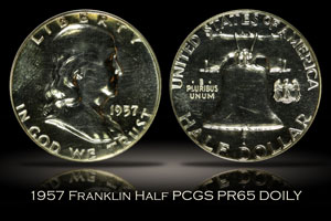 1957 Proof Franklin Half PCGS PR65 DOILY