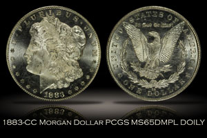 1883-CC Morgan Dollar PCGS MS65DMPL DOILY