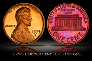 1975-S Proof Lincoln Cent PCGS PR66RB
